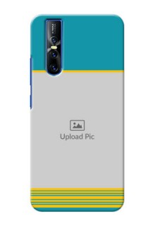 Vivo V15 Pro personalized phone covers: Yellow & Blue Design