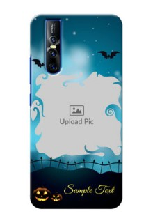 Vivo V15 Pro Personalised Phone Cases: Halloween frame design