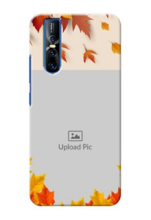 Vivo V15 Pro Mobile Phone Cases: Autumn Maple Leaves Design