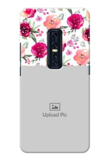 Vivo V17 Pro Personalized Mobile Cases: Watercolor Floral Design
