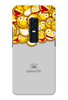 Vivo V17 Pro Custom Phone Cases with Smiley Emoji Design