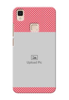 Vivo V3 Max White Dots Mobile Case  Design
