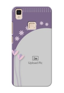 Vivo V3 Max lavender background with flower sprinkles Design Design