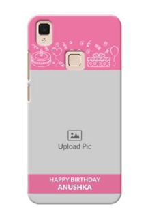 Vivo V3 Max plain birthday line arts Design Design