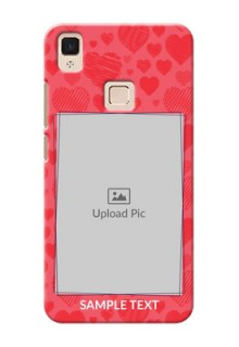 Vivo V3 Max multiple hearts symbols design Design Design
