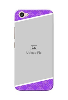 Vivo V5 Lite Violet Pattern Mobile Case Design