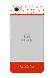 Vivo V5 Plus Orange Love Symbol Mobile Cover Design