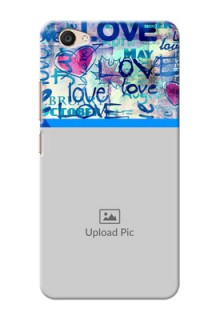 Vivo V5 Plus Colourful Love Patterns Mobile Case Design