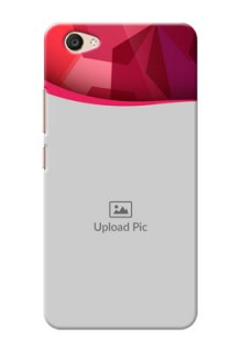 Vivo V5 Plus Red Abstract Mobile Case Design
