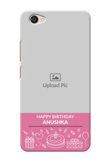Vivo V5 Plus plain birthday line arts Design