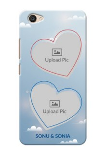 Vivo V5 Plus couple heart frames with sky backdrop Design