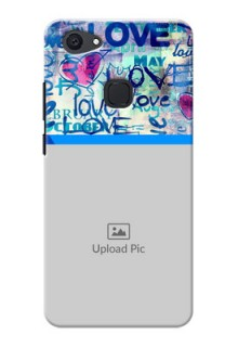 Vivo V7 Plus Colourful Love Patterns Mobile Case Design