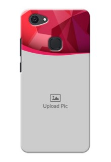 Vivo V7 Plus Red Abstract Mobile Case Design
