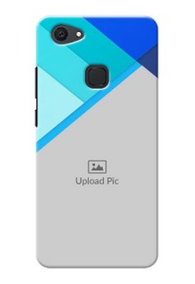 Vivo V7 Plus Blue Abstract Mobile Cover Design