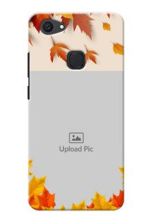 Vivo V7 Plus autumn maple leaves backdrop Design
