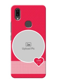 Vivo V9 Pro Mobile Covers Online: Pink Pattern Design