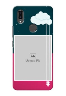 Vivo V9 Pro custom phone covers: Cute Girl with Cloud Design
