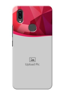 Vivo V9 Pro custom mobile back covers: Red Abstract Design
