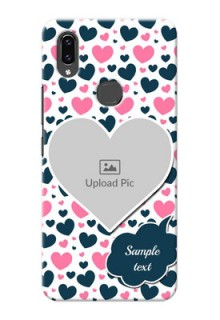 Vivo V9 Pro Mobile Covers Online: Pink & Blue Heart Design