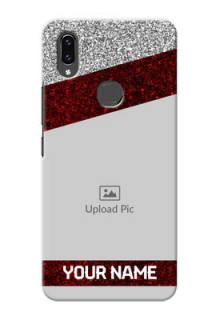 Vivo V9 Pro Mobile Cases: Image Holder with Glitter Strip Design