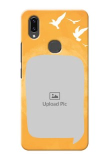 Vivo V9 Pro Phone Covers: Water Color Design with Bird Icons