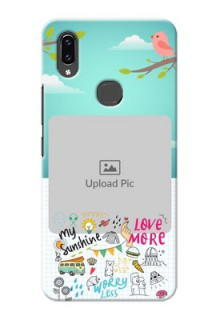 Vivo V9 Pro phone cases online: Doodle love Design