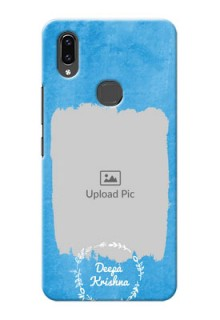 Vivo V9 Pro custom mobile cases: Blue Color Vintage Design