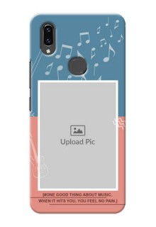 Vivo V9 Pro Phone Back Covers with Color Musical Note Design