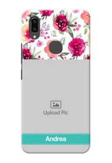 Vivo V9 Pro Personalized Mobile Cases: Watercolor Floral Design