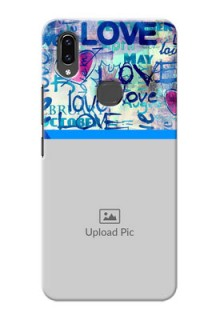 Vivo V9 Colourful Love Patterns Mobile Case Design