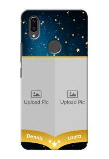 Vivo V9 2 image holder with galaxy backdrop and stars  Design