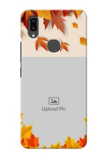 Vivo V9 autumn maple leaves backdrop Design