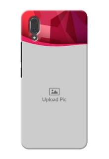 Vivo X21 custom mobile back covers: Red Abstract Design
