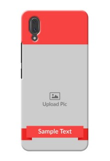 Vivo X21 Personalised mobile covers: Simple Red Color Design