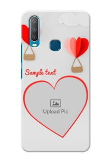 Vivo Y12 Phone Covers: Parachute Love Design