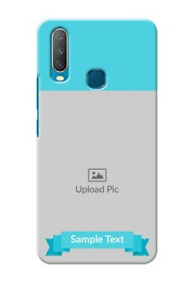 Vivo Y12 Personalized Mobile Covers: Simple Blue Color Design