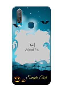 Vivo Y12 Personalised Phone Cases: Halloween frame design
