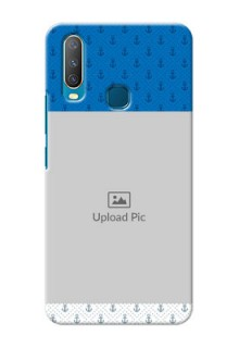Vivo Y15 Mobile Phone Covers: Blue Anchors Design