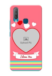Vivo Y15 Personalised mobile covers: Love Doodle Design