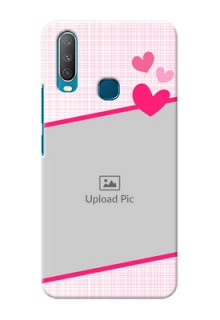 Vivo Y15 Personalised Phone Cases: Love Shape Heart Design