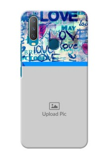 Vivo Y15 Mobile Covers Online: Colorful Love Design