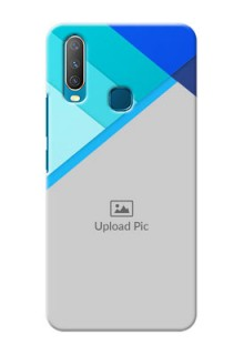 Vivo Y15 Phone Cases Online: Blue Abstract Cover Design