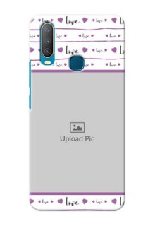 Vivo Y15 Mobile Back Covers: Couples Heart Design