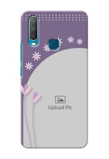 Vivo Y15 Phone covers for girls: lavender flowers design