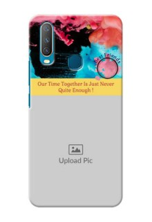 Vivo Y15 Mobile Cases: Quote with Acrylic Painting Design