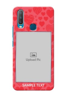 Vivo Y15 Mobile Back Covers: with Red Heart Symbols Design