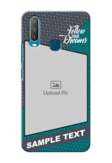Vivo Y17 Back Covers: Background Pattern Design with Quote