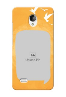 Vivo Y21L watercolour design with bird icons and sample text Design Design