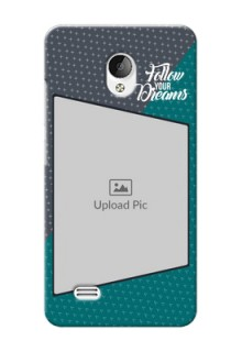 Vivo Y21L 2 colour background with different patterns and dreams quote Design Design