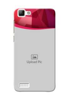 Vivo Y35 Red Abstract Mobile Case Design